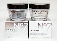 Boots No7 Early Defence Day Cream SPF30 50ml / Night Cream 50ml 100% Authentic