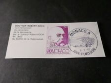 Monaco 1982, Stamp Doctor Robert Koch, Obliterated 1° Day