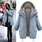 femmes chaude Jeans Cordon TWIN-SET à capuche manteau parka haut grande taille
