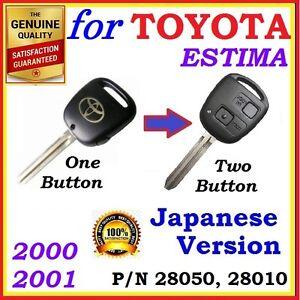 FOR TOYOTA ESTIMA REMOTE KEY - JAPANESE VERSION ACR30 / MCR30  - ONE BUTTON