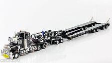 """Kenworth T909 Truck w/ Drake Trailer - """"BLACK"""" - 1/50 - #ZT09026"""