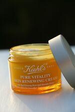2x Kiehl's Pure Vitality Skin Renewing Cream -Travel Size 0.25 oz/7 ml each