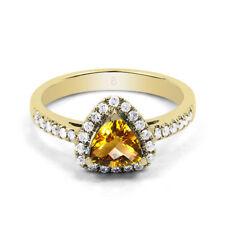 Gioielli di lusso gialli oro gialli diamante
