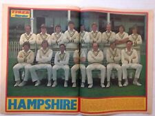 TIGER AND SCORCHER COMIC 23 JUNE1979 HAMPSHIRE CRICKET TEAM GROUP CENTRE SPREAD