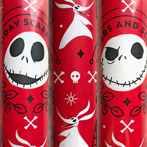 Disney The Nightmare Before Christmas Gift Wrapping Paper Jack Skellington