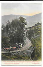 The Devils Elbow, Coaches Buttermere to Keswick, PPC Unposted, Abrahams no 316