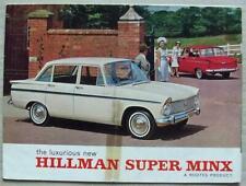 HILLMAN SUPER MINX Car Sales Brochure 1965 #1081/H