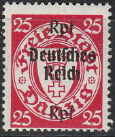 Stamp Germany Mi 724 1939 WW2 Reich Danzig Empire Port Poland Overprint MH
