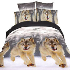 3D Duvet Cover Print Pillow Cases Bed Sheets Animal Design Bedspread