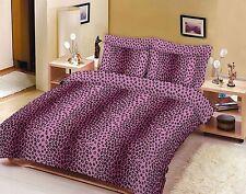 Leopard Pattern Duvet Quilt Cover Set, Bedding Set, Single, Double, Super King
