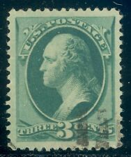 Scott #184 1879 3ct Green PSE Apparent Centering VF-XF 85J but TINY THIN