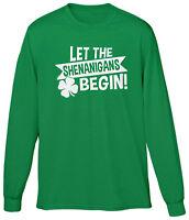 Let The Shenanigans Begin St Patricks Day Party Festival Drinking Mens V-neck