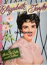 Vintage Uncut 1954 Elizabeth Taylor Paper Dolls~#1 Reproduction~Fabulous & Rare