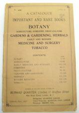 Rare Book Catalog Catalogue Botany Medicine Surgery Tobacco Gardening Reference