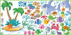 WALL STICKERS Fish Nemo Ocean Decor Decals For Baby Nursery Childrens Room SET 5