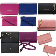 Michael Kors Jet Set Travel 3 In 1 Leather Crossbody Bag with Wristlet Clutch