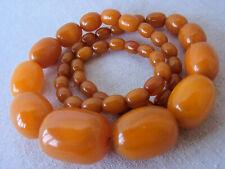 Nouveau Amber whisky couleur un collier de perles bijoux 71 g.