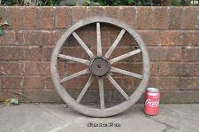 VINTAGE OLD in legno CARRO CARRETTO ruota/45 CM-CONSEGNA GRATUITA