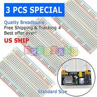 3pcs White Breadboard SYB-400 Tie-points Solderless Prototype PCB Circuit Board