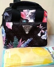 GUESS Floral FORTUNA INSULATED LUNCH TOTE Baby BAG + BPA Free SOFT FREEZER PACKS
