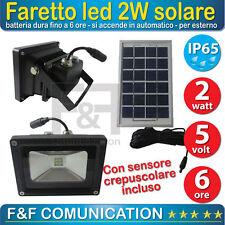 FARO 4 LED 2835 SMD CON PANNELLO SOLARE IP 65 FARETTO PER ESTERNO RICARICA mshop