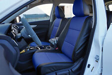 BLACK/BLUE VINYL CUSTOM MADE FIT FRONT SEAT COVERS FOR NISSAN ROGUE 2013-2017