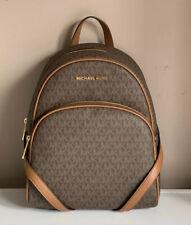 Michael Kors Abbey Medium Backpack Brown Leather 35F8GAYB2B NWT £340