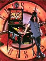 Guns N' Roses Pinball FLYER 1994 Original NOS Game Artwork Hard Rock Music Slash