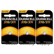 3 370/371 Duracell Silver Oxide Batteries (AG6, D370, D371, G64, SR69, SR920W)