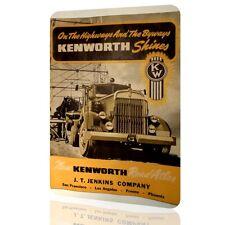 METAL TIN SIGN KENWORTH TRUCK Decor Vintage MOTOR Classic Wall Garage Art