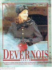PUBLICITE ADVERTISING 116  1996   Devernois  pret à porter  manteau femme