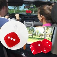 1PMirror Styling 4 Colors Car Pendant Interior Decoration Hanger Fuzzy Dice Dots
