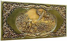 HANDMADE DECORATIVE WALL WOODEN DEEPLY CARVED PANEL ASH-TREE WOOD COOL GIFT IDEA