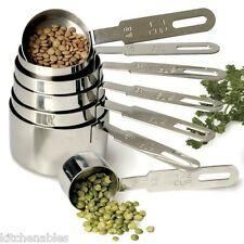 RSVP 18/8 NSF STAINLESS STEEL 7 PIECE PROFESSIONAL MEASURING CUPS SET NESTING