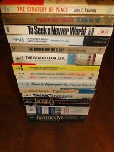 Kennedy family lot of 15 used paperback books JFK john robert jackie etc