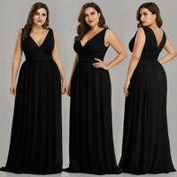 US Plus Size Prom Long Cocktail Party Dress Prom Gown Formal Evening Dress 09016