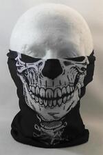 Tête multifonction wrap écharpe tube de cou masque chapeau noir crâne visage airsoft sport