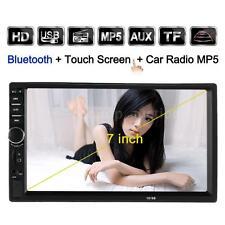 "7"" 2 DIN Auto Car FM Radio MP5 Player USB/TF Auxiliary Input Bluetooth Universal"