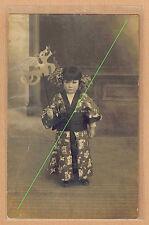 Carte Photo vintage card RPPC enfant déguisé japonaise japanese chinoise kh013
