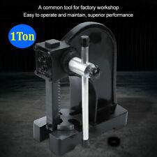 New listing 1 Ton Hand Punch Press Machine Carbon Steel Metal Arbor Pressing Tool Us