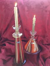 NEW FLAWLESS Stunning 2 WATERFORD Evolution MOROCCAN BREEZE CANDLE STICK HOLDERS
