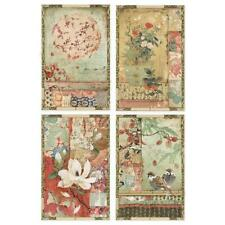 Stamperia Decoupage Rice Paper A4 Oriental Garden Japanese Postcards - Dfsa4396