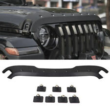 For Jeep Gladiator Wrangler JL Trail Armor Hood Stone Guard Protector 2018-2020