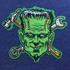 Frankenstein's Monster Spare Parts 15 x 13cm  Embroidered Patch Iron-on, Sew-on