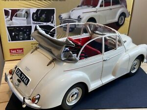 SUNSTAR 1/12 SCALE 1956 MORRIS MINOR TOURER - WHITE - VERY GOOD WITH BOX