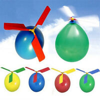 2pcs Helicopter Balloons Flying DIY Flight Science Plane Children Toy Party Best