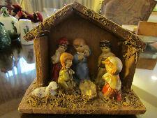 Christmas Nativity Jesus in Manger Wisemen and animals Decoration