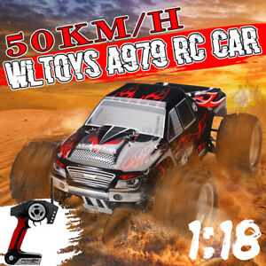 Wltoys A979 1:18 Rc Car Off-Road Vehicle Remote Control 4WD 2.4GH Truck Gift AU