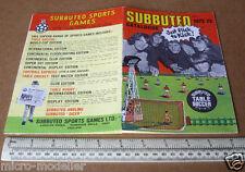 1972-73 subuteo giochi sportivi catalogo prodotti. nella tabella CALCIO, cricket, Rugby