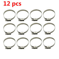 12 pcs Carburetor Intake Boot Manifold Clamps For Honda CB750 DOHC stainless